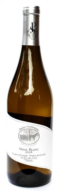 Potter settlement artisan wines Vidal Blanc